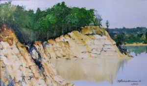 Caledon Cliffs, Oil on Panels by W. E. Richardson (September 2012)