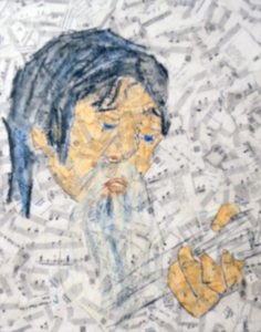 John Open Mic, Mixed Media by Barbara Deal (December 2012)