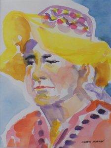Lost in Her Thoughts, Watercolor by Carrol Morgan (December 2012)