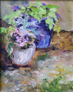 Summer Planters, Oil on Canvas by Christina Smith (December 2012)