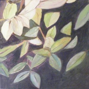 Berry Bush Leaves, Acrylic by Christine E. Long (December 2012)