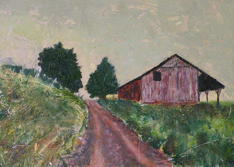 HONORABLE MENTION: Ridge Road, Oil on Aluminum by Jane T. Woodworth (December 2012)