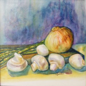 Cutting Board, Watercolor by Karen Julihn (December 2012)