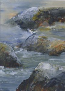 TidalRocks, Acrylic by Kathleen Willingham (December 2012)