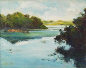 Lake Maggiore, Oil b y Katherine C. Dervin, Size 8in x 10in, NFS (August 2017)