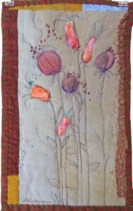 Poppies, Fiber by Lorie McCown (December 2012)