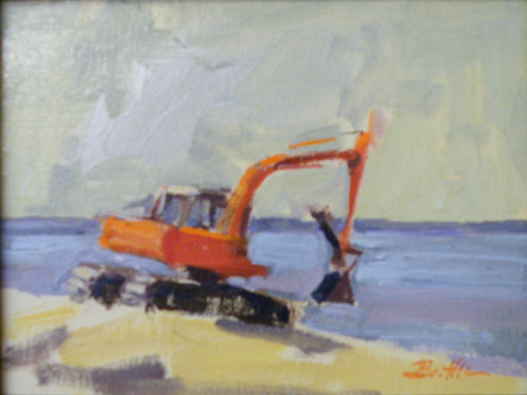HONORABLE MENTION: The Little Red Steam shovel, Oil on Canvas by Nancy Brittle (December 2012)