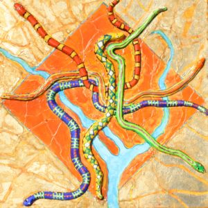 Metro Snaked, Mixed Media by Nancy McDearmon (December 2012)