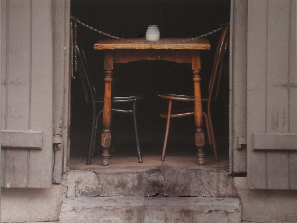 HONORABLE MENTION: Pirate's Table, French Quater, Metallic Photograph, Ltd.Ed. by Deborah D. Herndon, Size 15in x 20in, Framed 24in x 30in, $195 (August 2017)