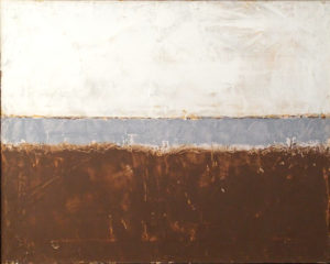 Shore Line, Oil,Cold Wax by Bob Worthy, Size 16in x 20in, $1,275 (August 2017)