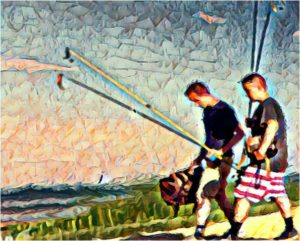 Sunday Fishing, Manipulated Photography by Dorian Hamilton, Size 8in x 10in, $125 (August 2017)