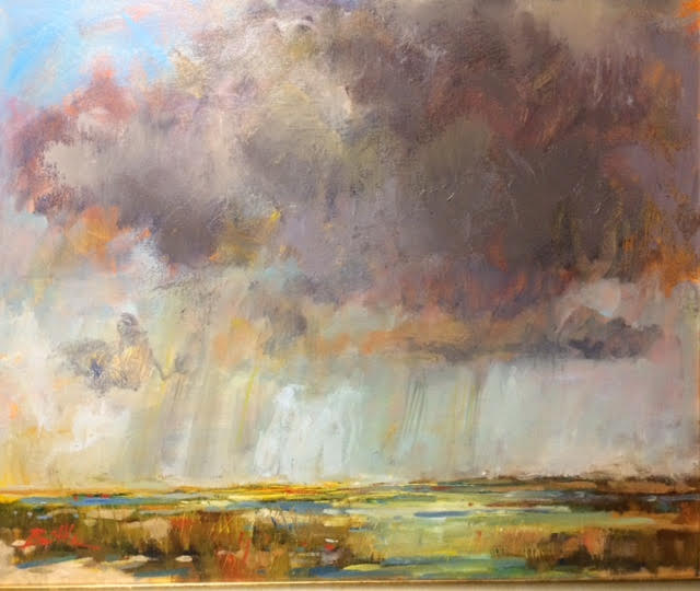 Turbulence Above, oil on canvas by Nancy Brittle, 20x24, $850 (October 2017)
