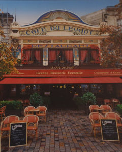 Cafe Levant, Bordeaux, Metallic Photograph, Ltd.Ed. by Deborah D. Herndon, Size 20in x 16in, Framed 30in x 24in x 1.5in, Price $189 (September 2017)