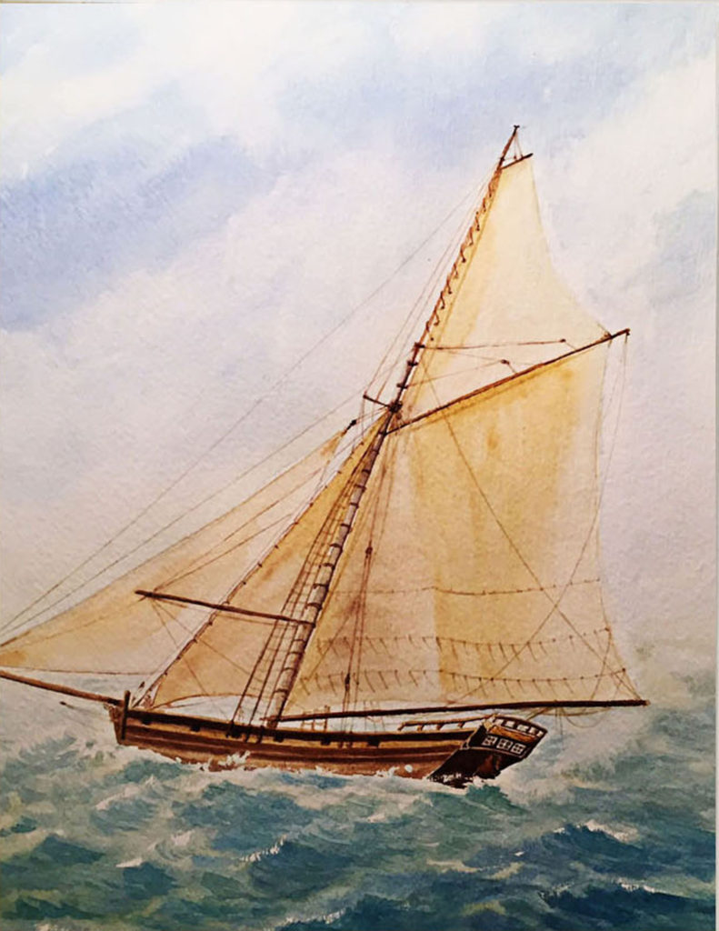 Happy Sailing, Watercolor by Iryna Hamill (CBTC: Oct. 2017-Jan. 2018)