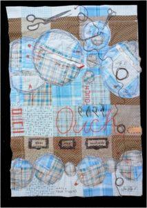 The Sewing Process, Mixed Media by Maura Harrison, 24in x17in, $250 (Dec. 2017-Jan.2018)