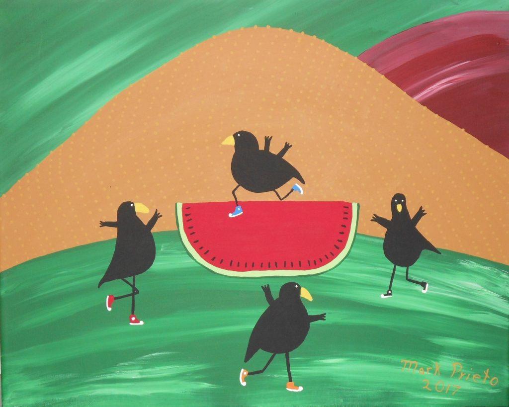 Dancing Crows  by Mark Prieto, 16x20 (MG: January 2018)