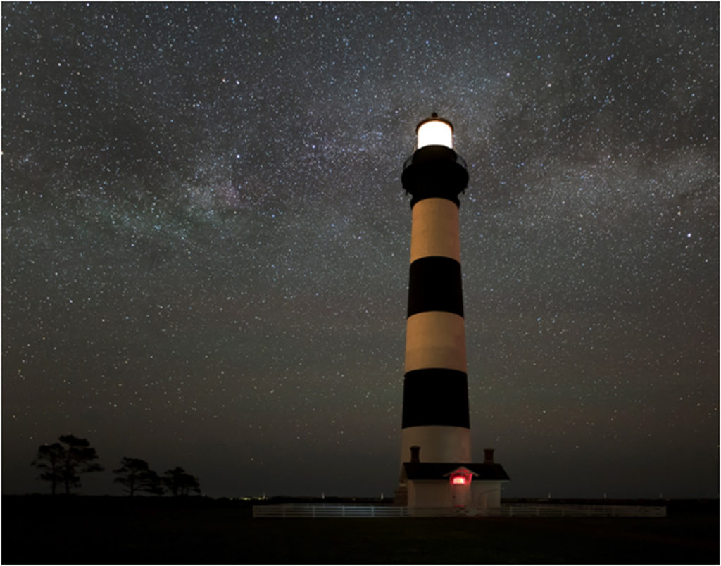 HONORABLE MENTION: Bodie Lighthouse, Photography by Andrew Sentipal, 11in x 14in, $75 (February 2018)