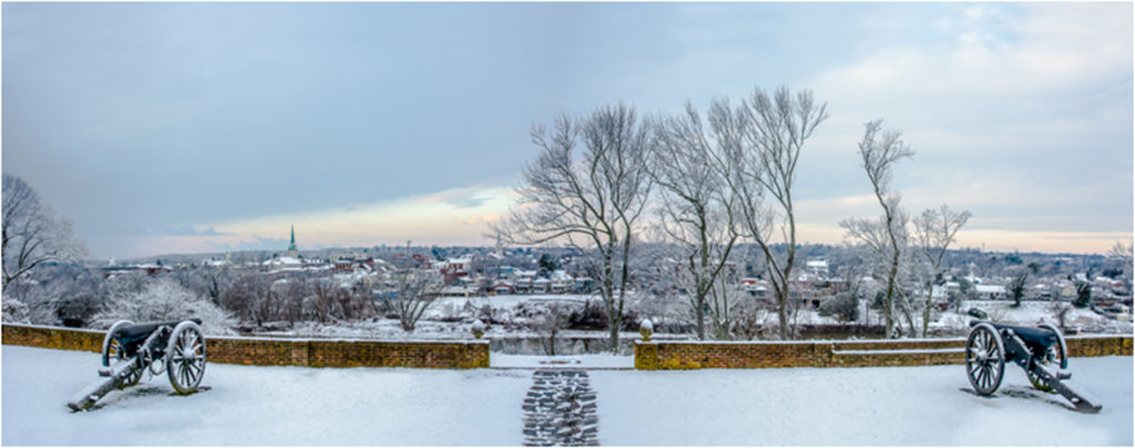 THIRD PLACE: Fredericksburg Snowscape, Photography by Mark Monteiro, 15in x 38in, $325 (February 2018)