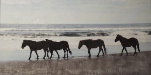 Where Wild Horses Are, Photo Encaustic by Sasha Leigh, 20in x 40in x 1.25, $355 (February 2018)
