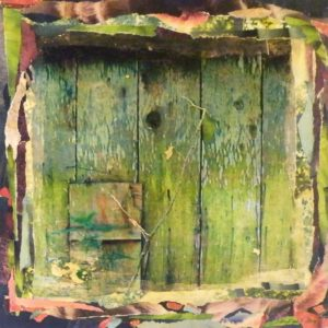 Barn Siding, Mixed Media-Transfer and Collage by Christine E. Long, 14in x 14in (May 2013)