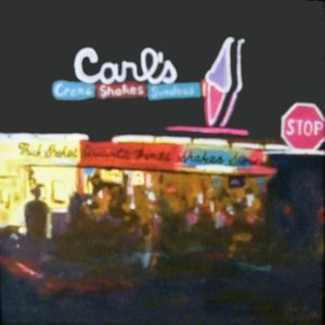 Carl's at Night, Acrylic by Liana Pivirotto, 12in x 12in (April 2013)