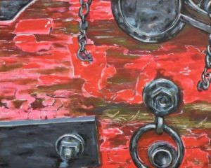 Detail of Fredericksburg Canon, Acrylic by Liana Pivirotto, 24in x 30in (May 2013)