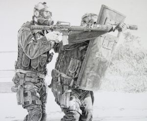 Dirty Job Too, Graphite by Ernie L. Fournet, 28inx34in (March 2013)