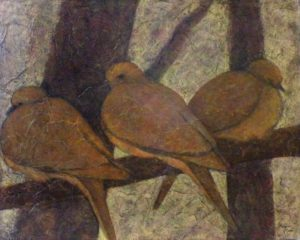 Dove Trio, Acrylic by Robyn Ryan, 16in x 20in (April 2013)