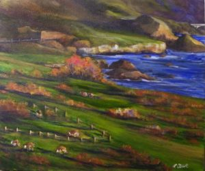 Down the Road Apiece, Acrylic by Lynn Abbott, 20in x 24in (June 2013)