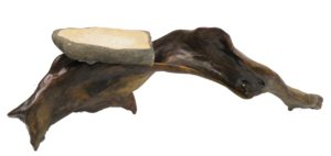 Driftwood and Sandstone Birdbath 1, Wood and Aggregate by David E. Sheehan, 12in. x 40in. x12in (August 2013)