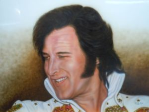 Fake Elvis-Hoover, Enamel on Metal by Billy Van Hoy, 18inx24in (March 2013)