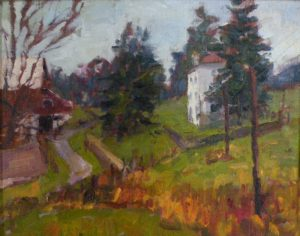 Kuerner's Farm, Oil by Lynn Mehta, 11in x 14in (June 2013)