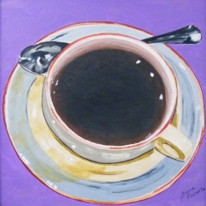 Morning Coffeet, Acrylic by Liana Pivirotto, 12in x 12in (April 2013)