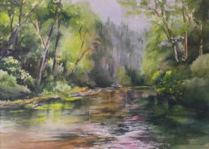 My Zen Place, Watercolor by Penny Hicks, 10in x 14in (April 2013)