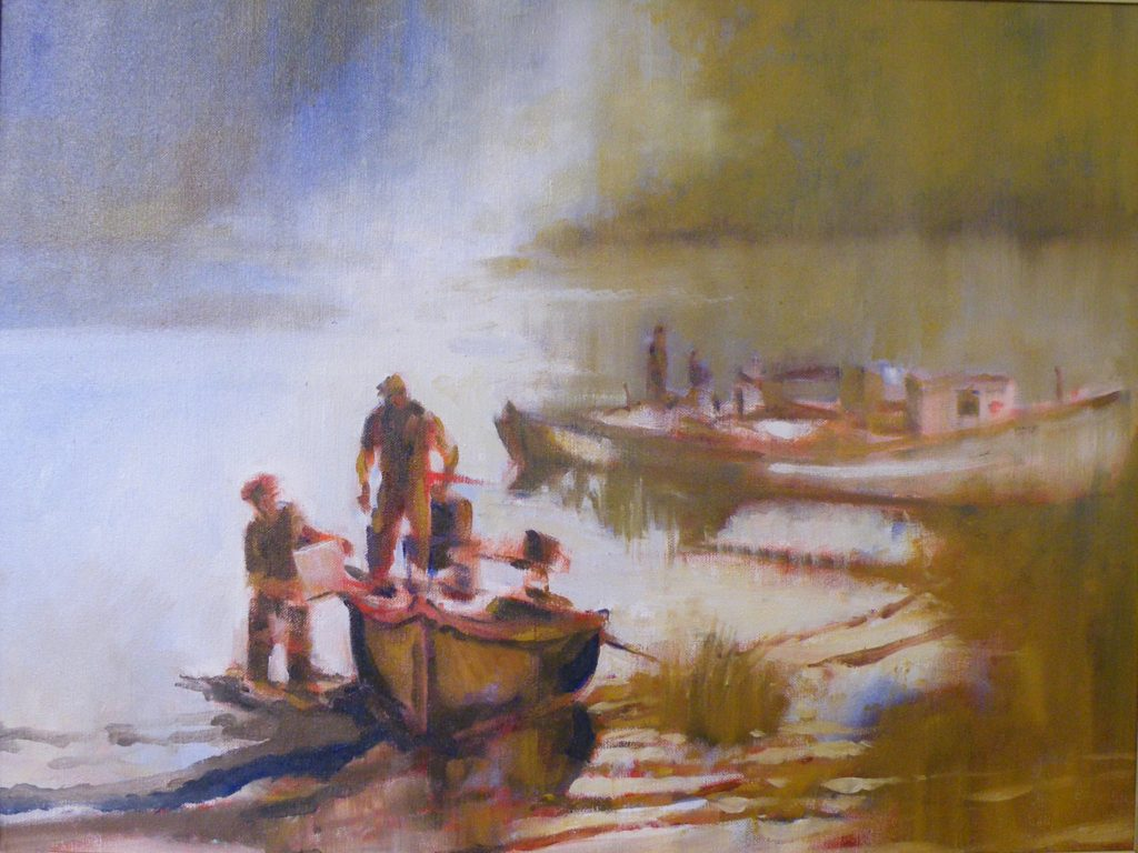 Old Potomac Landing, OIl by Marcia Chaves, 18in x 24in (April 2013)