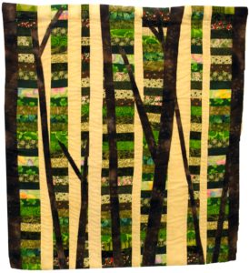 Out of the Woods, Quilted Wall Hanging by Cynthia Siira, 29in x 26.5in (May 2013)