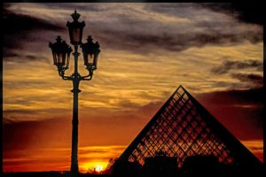 Paris Sunset, Photography by Norma Woodward, 8in x 12in (July 2013)