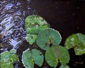 Pond-ering, Oil on Canvas by Karen L. Williams, 16in x 20in (June 2013)