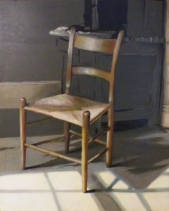 Portrait of a Chair, Oil by Janice Breeden, 30in x 24in (June 2013)