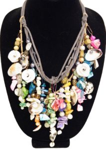 Sea Shore Necklace, Mixed Bead and Shell by Liana Pivirotto (July 2013)