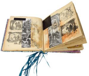 The Drawing Book, Altered Book by Kathleen Willingham, 7.5x8 (February 2013)