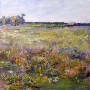 The Field in Fall I, Oil by Nancy Wing, 20in x20in (August 2013)