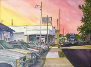 The Lot, Watercolor by Keith P. Beale, 22in x 30in(August 2013)