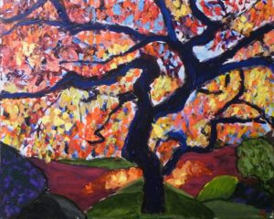 Tree of Color, Acrylic by James Clark, 24in x 30in (June 2013)