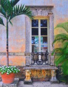 Vizcaya Bench FL, Metallic Paint Photo by Deborah Herndon, 14in x 10.5in (April 2013)