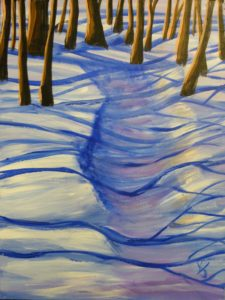 Winter Blues, Acrylic by Karen Julihn, 24in x 18in (May 2013)