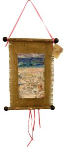 Zen at the Beach, Mixed Media by Barbara Deal,15x9 (February 2013)