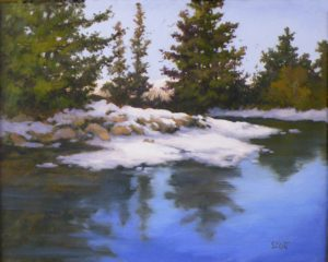 Canadian Lake, Oil by Kathleen Scott, Size 16in x 20in (October 2013)
