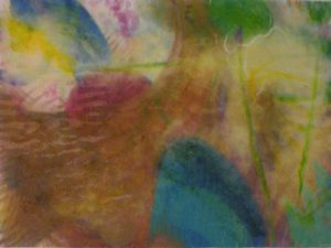 Sunset Over the Water, Mixed media by Elizabeth Halliday (September 2013)