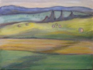 Late in the Afternoon, Oil on Canvas by Ginna Cullen, Size 12in x 16in (October 2013)